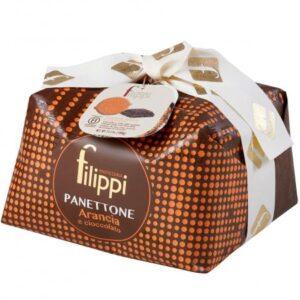 Panettone con Arancia e Cioccolato 1 Kg Filippi